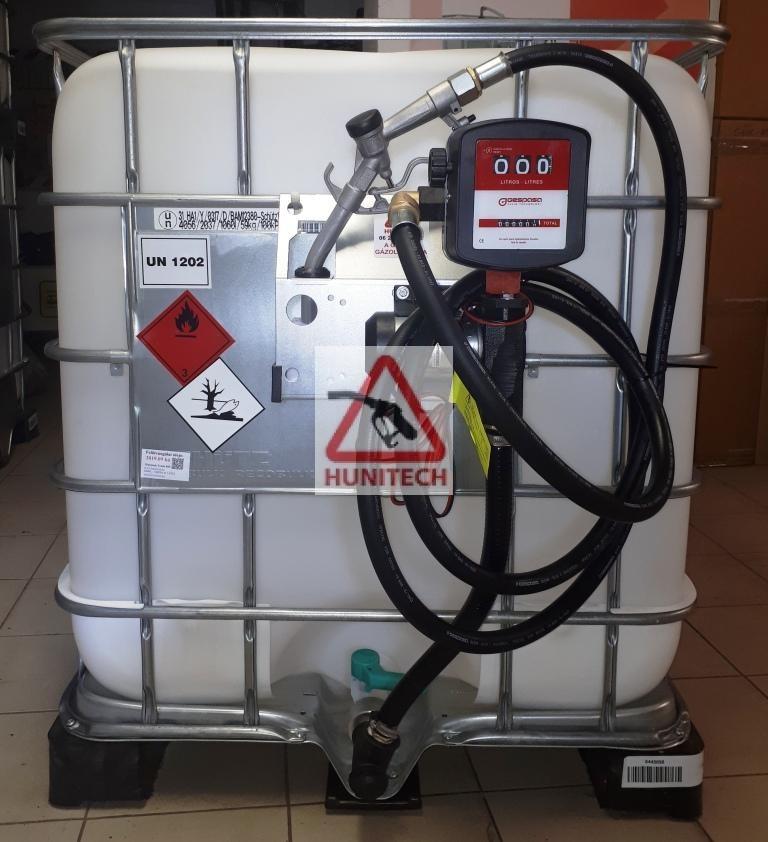 Használt IBC tartály 20 hónap ADR-rel 1000 literes + S-50 12V. 1000M kit