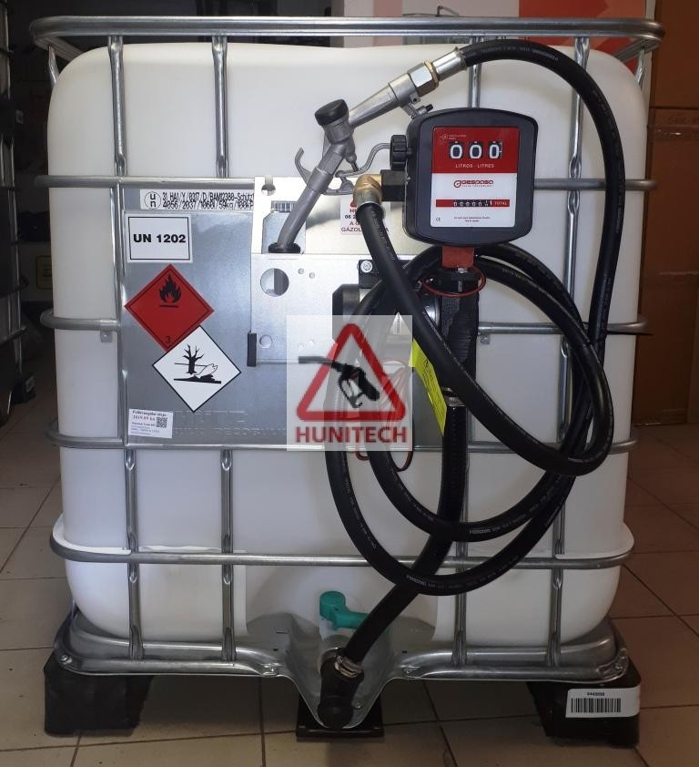 Használt IBC tartály, ADR-rel 1000 literes + S-50 24V. 1000M kit