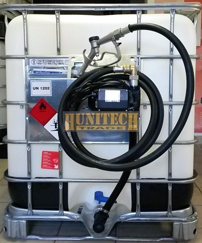 IBC gázolajtartály, ADR-rel 1000 literes + IRON-50, gázolajszivattyú, 230V. 1000M kit