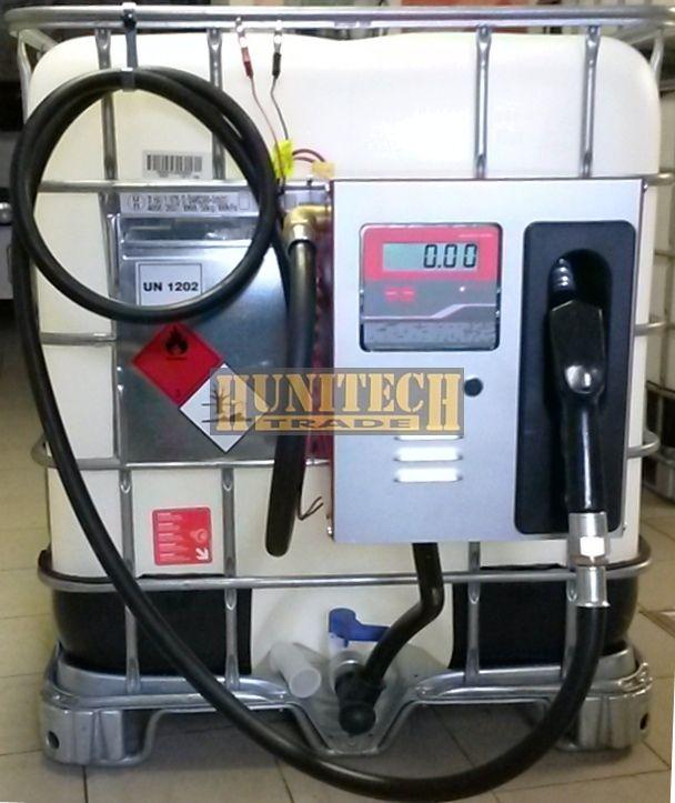 Használt IBC tartály, ADR-rel 1000 literes + COMPACT S-50E 12V. kútfejjel