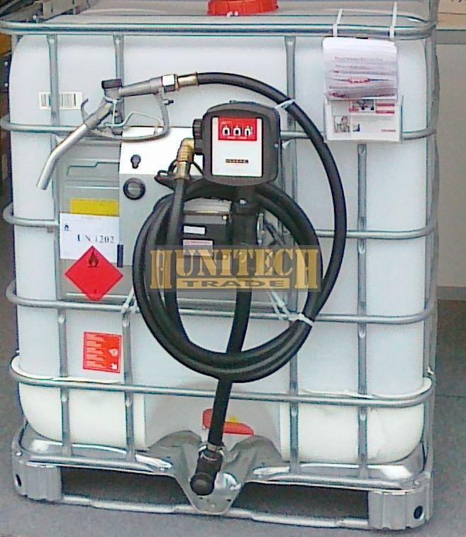 Használt IBC tartály, ADR-rel 1000 literes + S-50 230V. 1000M kit