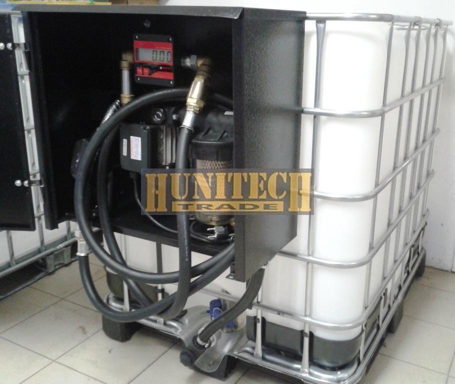 IBC tartály 1000 literes + Kit Equipe 230V. gázolajszivattyú, digitális átfolyás-mérővel,