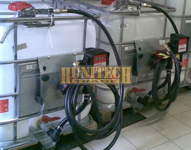 Használt IBC tartály, ADR-rel 640 literes + S-50 230V. 1000M kit
