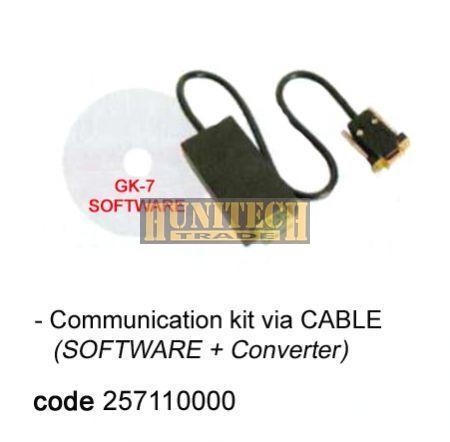 Kommunikációs szoftver KÁBEL használattal