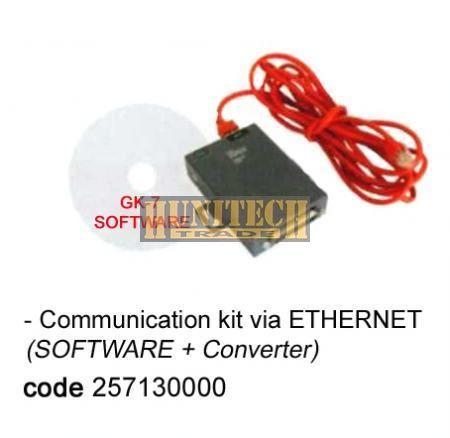 Kommunikációs szoftver ETHERNET használattal