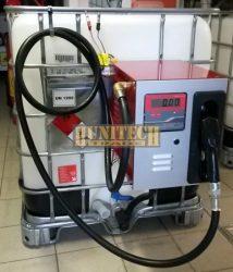 Speciális gázolajszivattyú, kimérőkkel felszerelt IBC tartályok